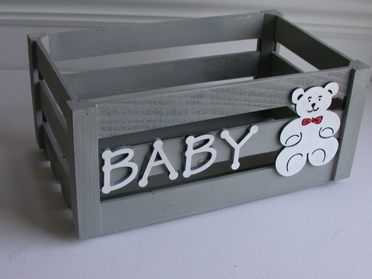 Baby Shower Hand Painted Gift Box