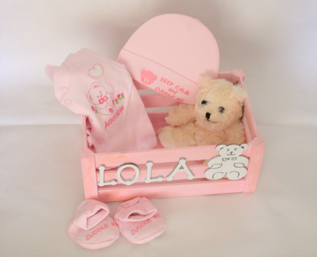 Newborn Baby Girl Handpainted Gift Box