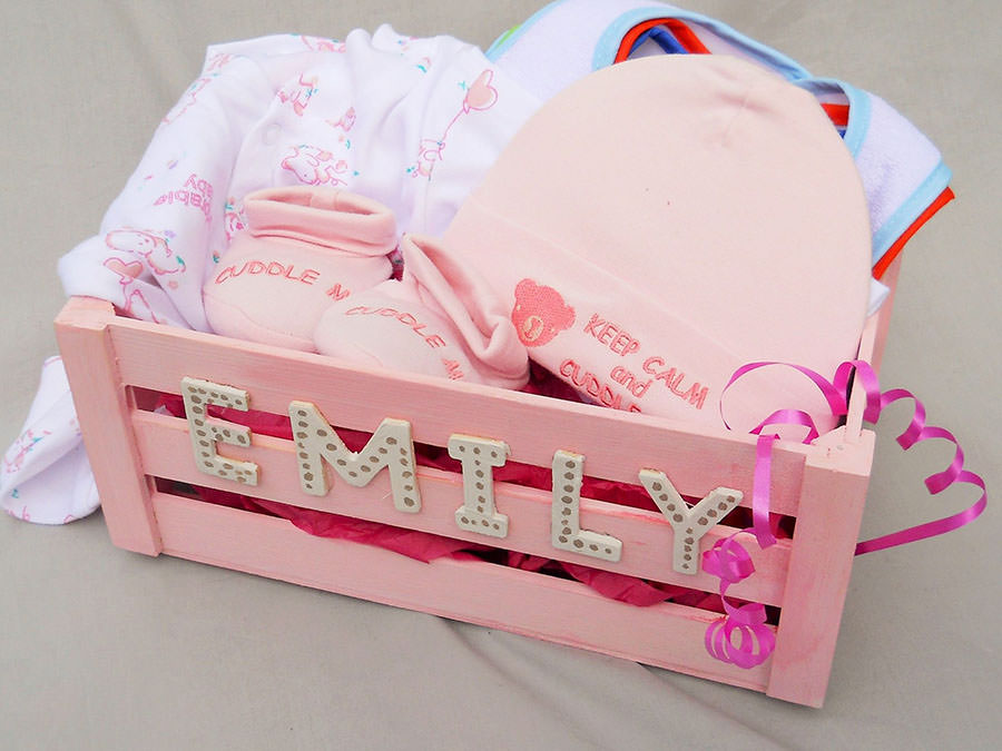 Newborn Baby Girl Gift Box Little Harbour Crafts And Gifts