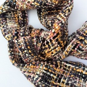 Unusual Fairtrade Brown Autumn Colours Handwoven Scarf. Soft, Warm And Wonderful!