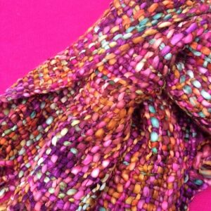 Unusual Fairtrade Autumn Colours Handwoven Scarf. Soft, Warm And Wonderful!