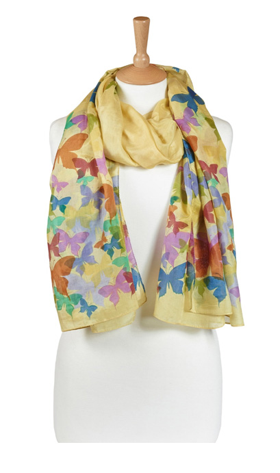'Flutter' Scarf – Sensational Summer Yellow