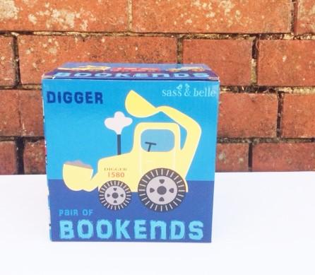 Digger Book Ends 3