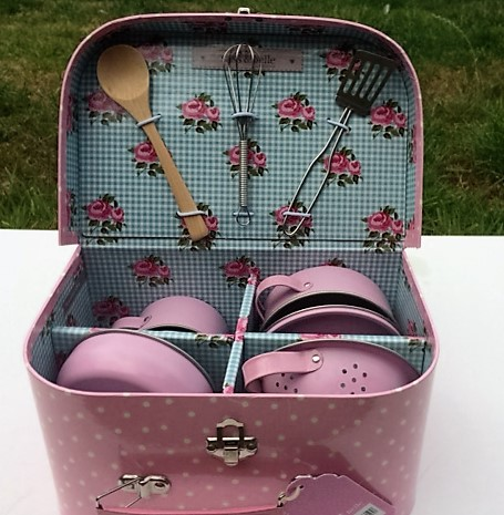 Unusual Toy Children's Pink Cooking Box Set. A Sasse & Belle Product. A Great Gift For A Child