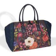 Venezia Printed Overnight Bag – Navy