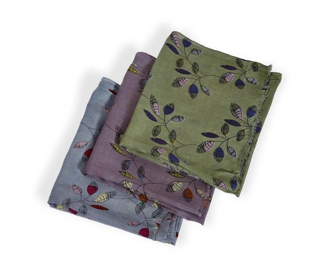 Leaf Print Scarves