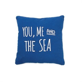 Nautical Sea Blue Cushion - Little Harbour Gifts - Free Postage. A Great Gift For Someone Who Likes The Seaside. £12.99 - Great Present And Value!