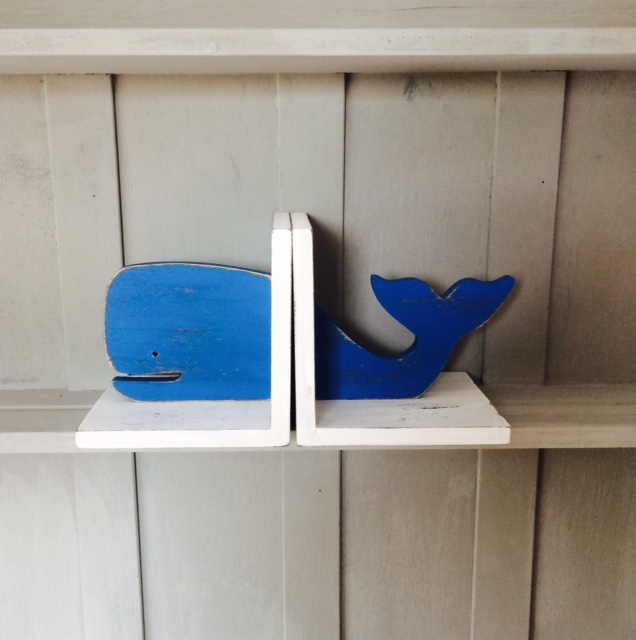 Shabby Chic Wally The Whale Bookends