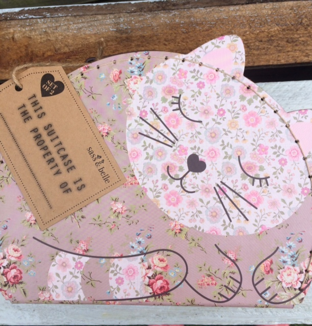 Set Of Two Cute Cat Suitcases - Little Harbour Gifts - Sasse And Belle - Free Postage And Gift Wrapping. An Unusual Gift For A Child.