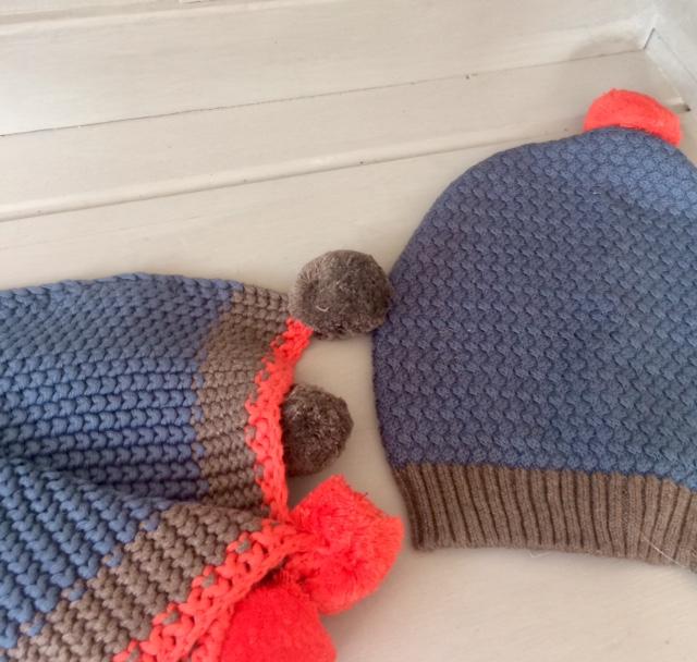 Cotton Knitted Pom Pom Hat