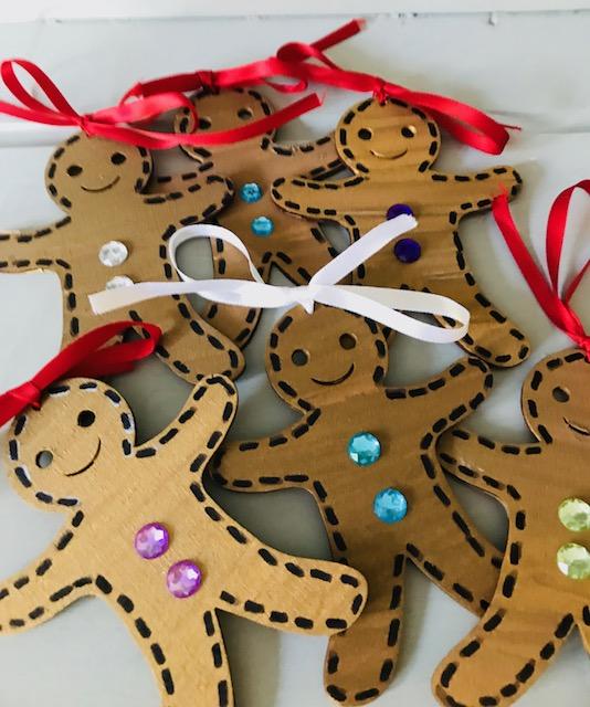 Personalised Gingerbread Man Christmas Tree Hanging