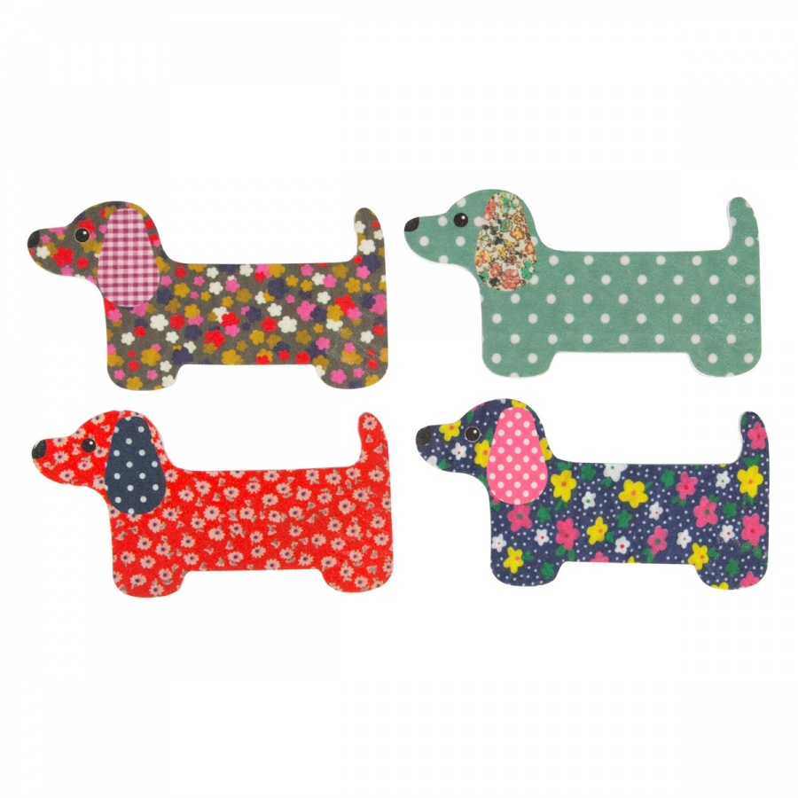 Dashing Duchshund Nail Files (for 5)
