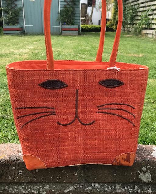Ginger Cat Madaraff Basket