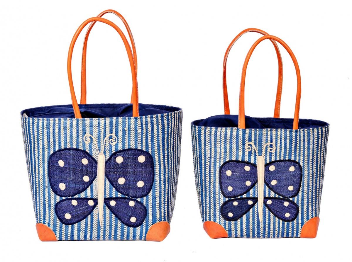 Butterfly Blue Madaraff Basket
