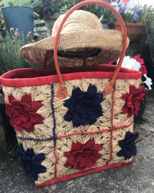 Gorgeous Crocheted Madaraff Handmade Basket. Fairtrade And Eco Friendly.
