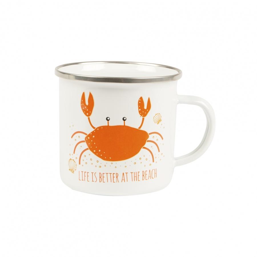 Cute Crab ' Nautical  Enamel Mug By Sasse & Belle