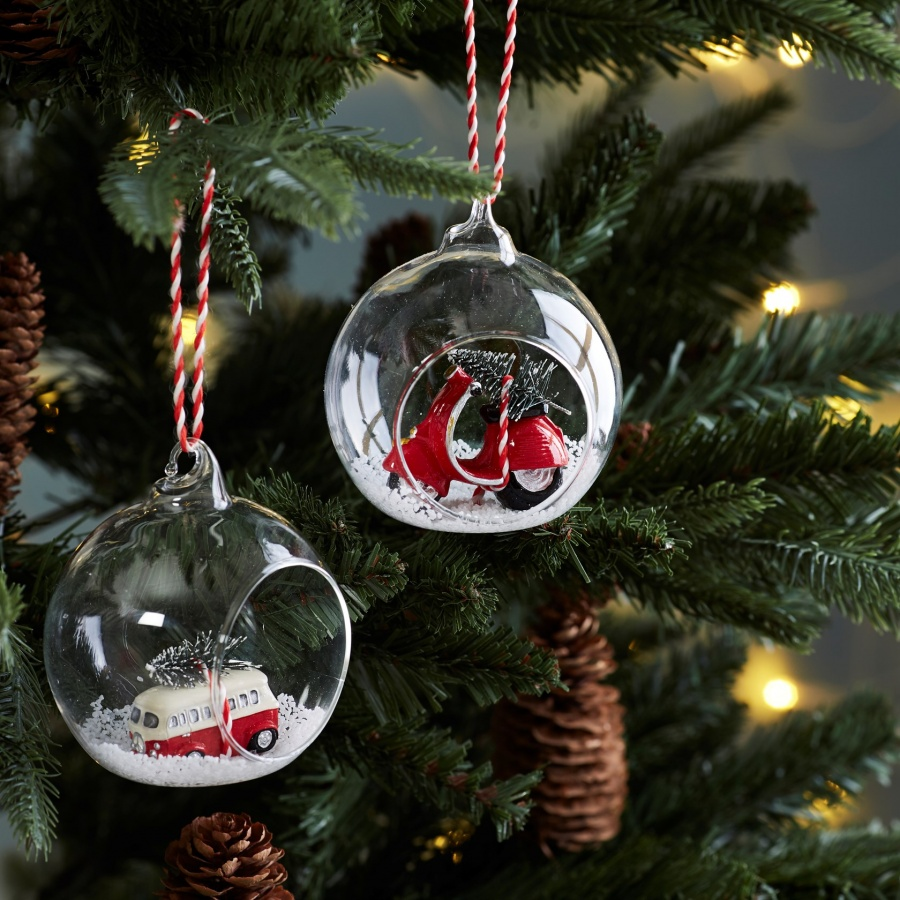 Christmas Camper Van Hanging Bauble With Free Postage