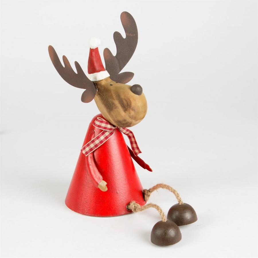 Rudi The Reindeer Sitting Decoration With Free Postage