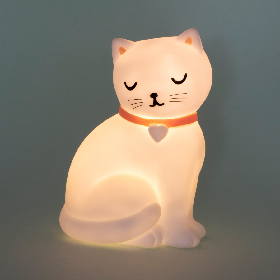 Cat Night Light On
