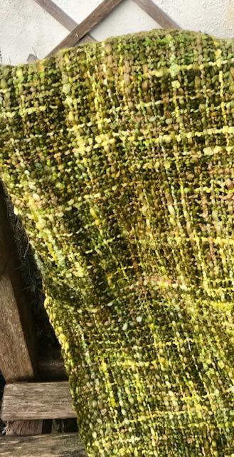 Handmade Lime And Yellow Soft Scarf. Fairtrade