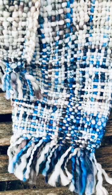 Hamdmade Blue Mix Woven Scarf . Fairtrade