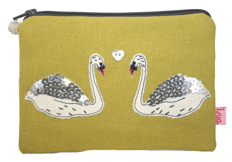 b29685d7b1 Two Swans coin purse in two colours | Little Harbour Crafts and Gifts